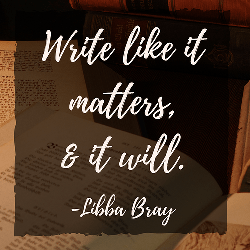 Write Like It Matters